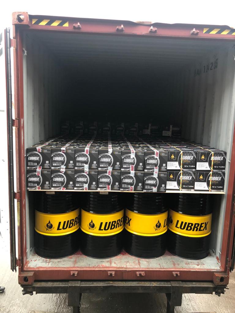 Мы получили первые контейнеры с маслами Lubrex